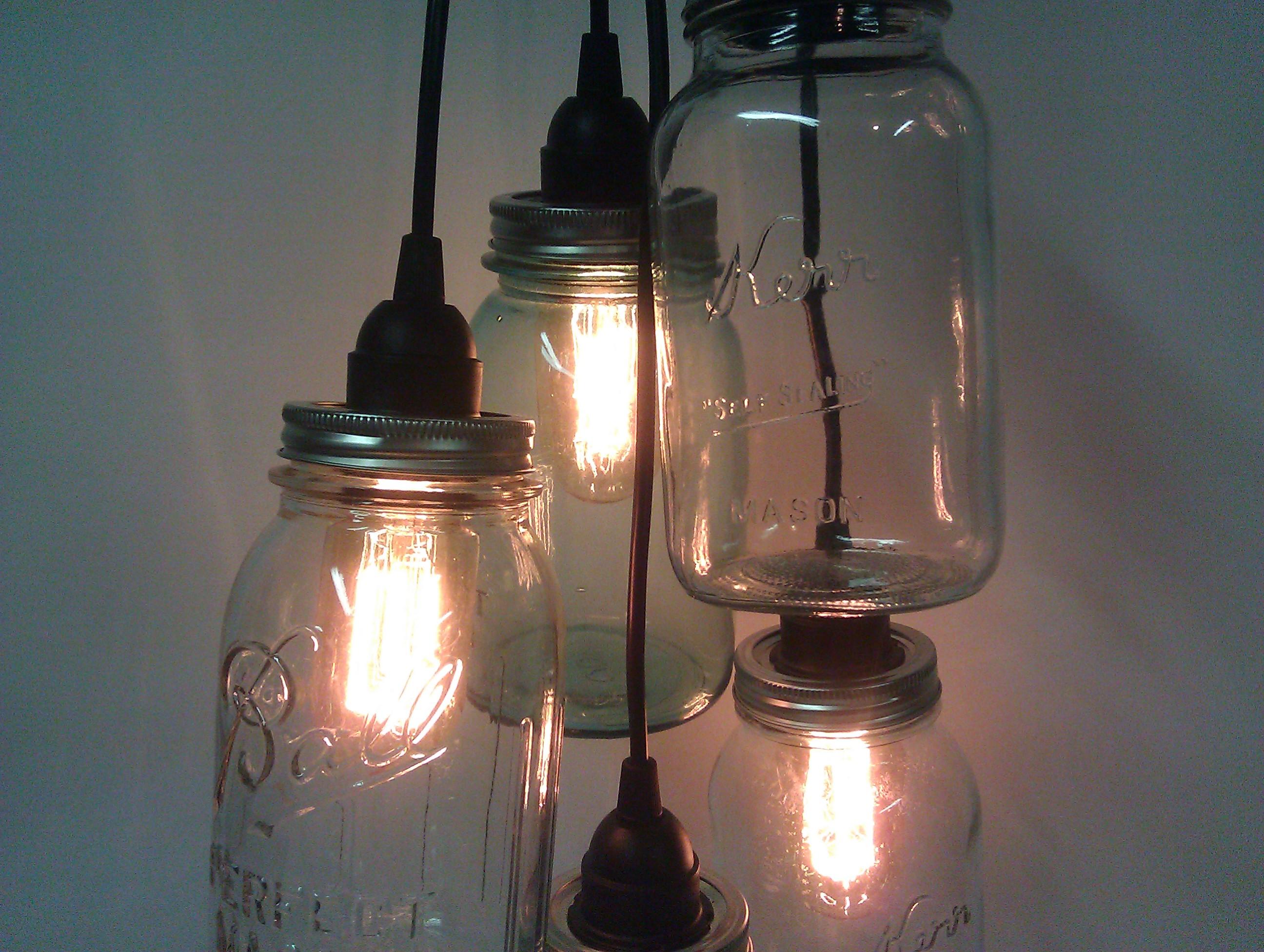 Mason jar cluster pendant light portman workshop advertisements aloadofball Images